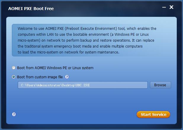 超级简单的 PXE 网络启动工具:AOMEI PXE Boot(国产英文版)