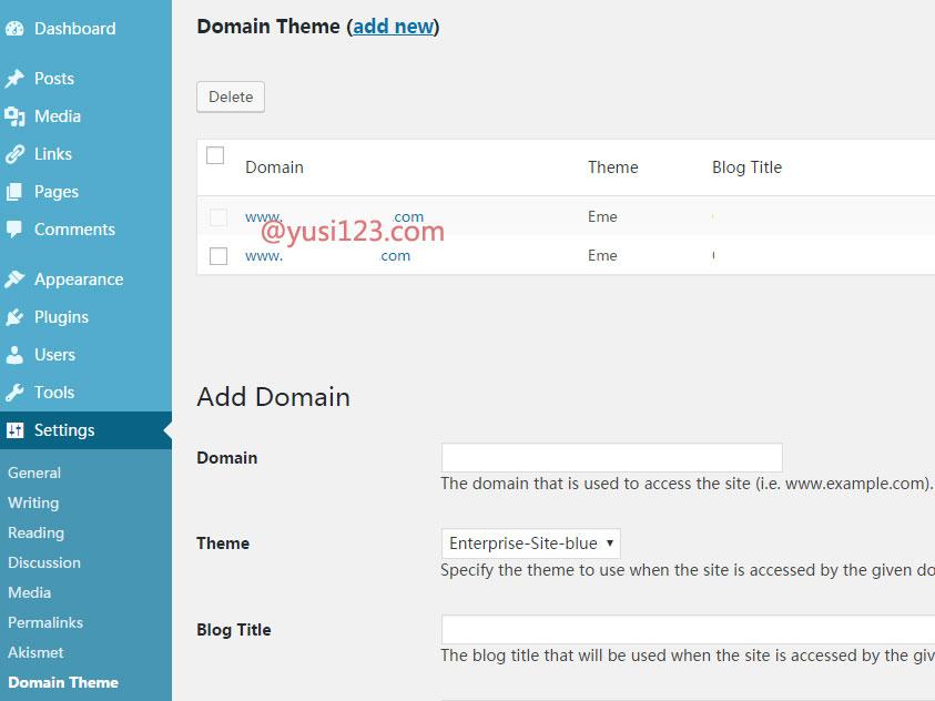 WordPress绑定多个域名和禁止搜索引擎收录非主域名的方法
