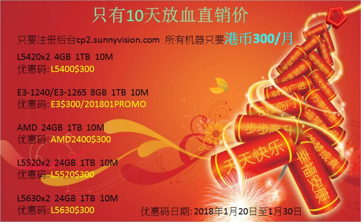 香港新立讯 sunnyvision 便宜服务器简单测评