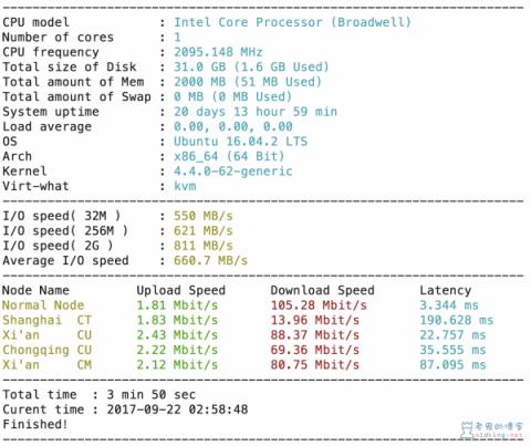 SuperBench.sh 一键测试服务器的基本参数(转)