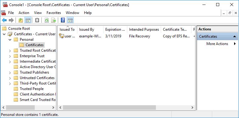 windows 系统配置 EFS 恢复代理