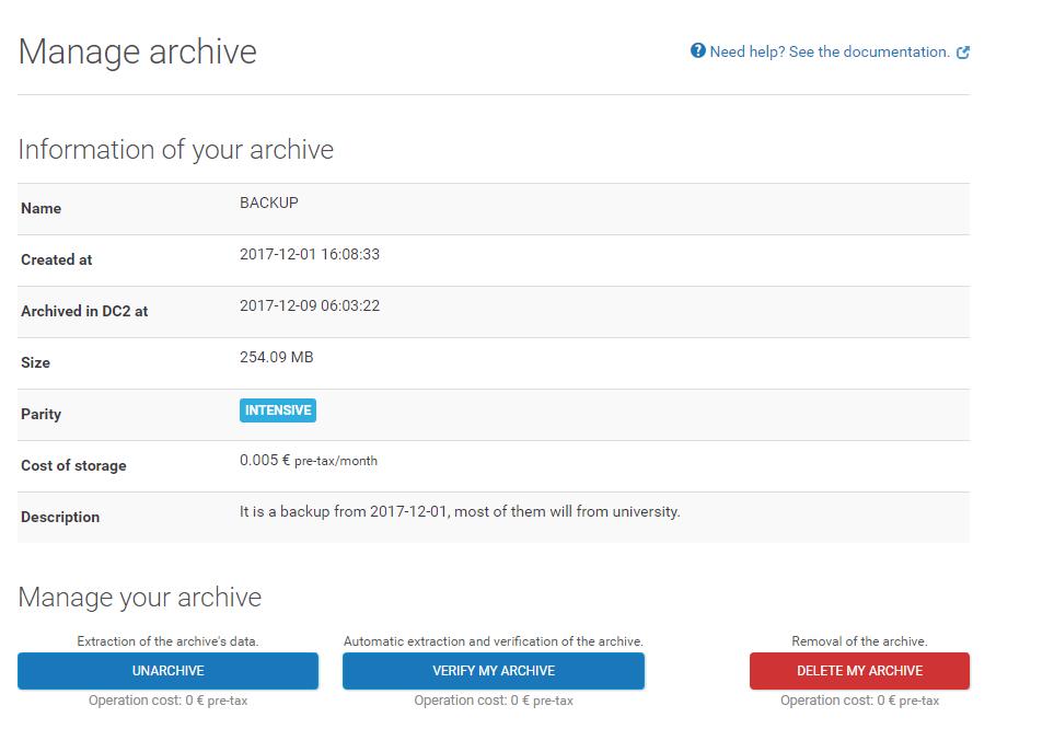 online C14 储存服务体验报告(转)