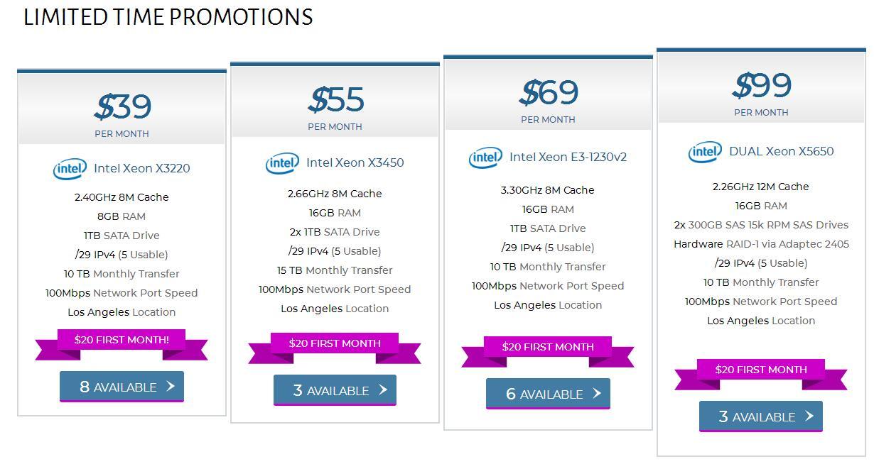 QuadraNet每月39$服务器优惠 首月20$