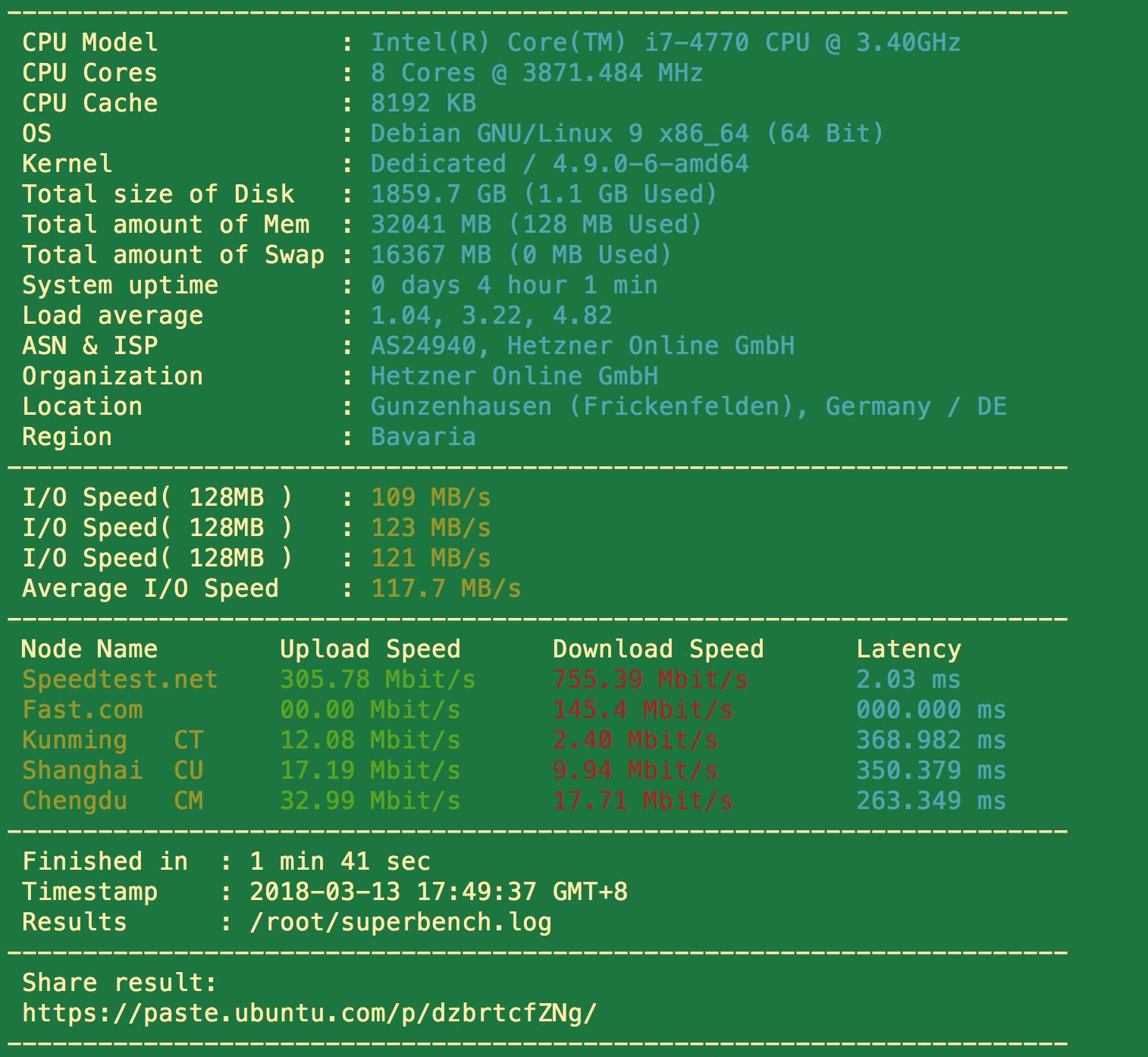 Hetzner 德国服务器测试及 DDWindows