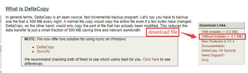 Windows数据备份软件Deltacopy-数据备份与还原