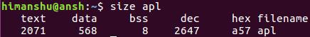 6个 Linux size 命令示例教程