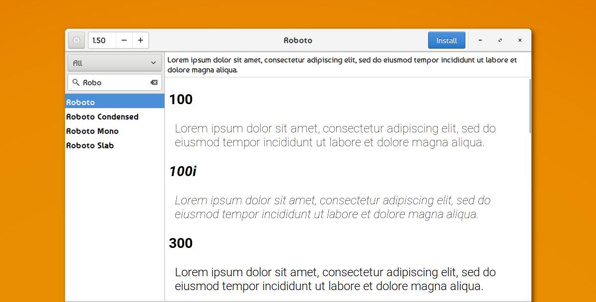 使用字体搜索器在Ubuntu上快速浏览并安装Google字体