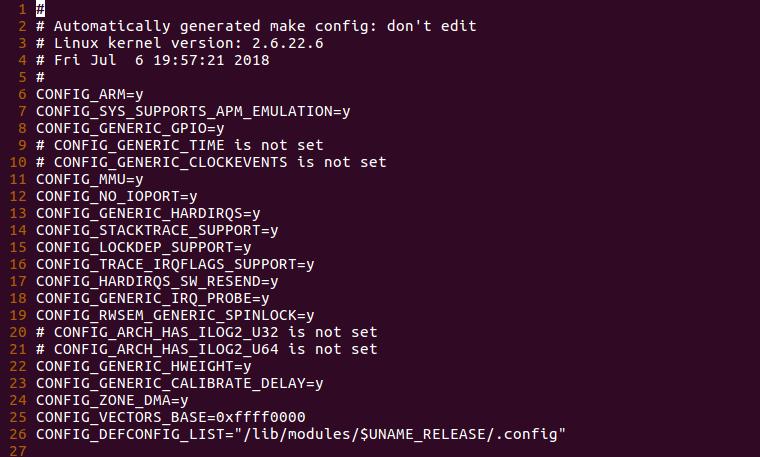 linux-2.6.22.6内核启动流程分析之配置