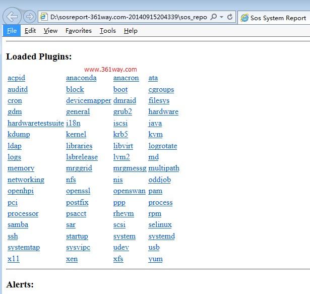 Linux信息收集篇之sosreport