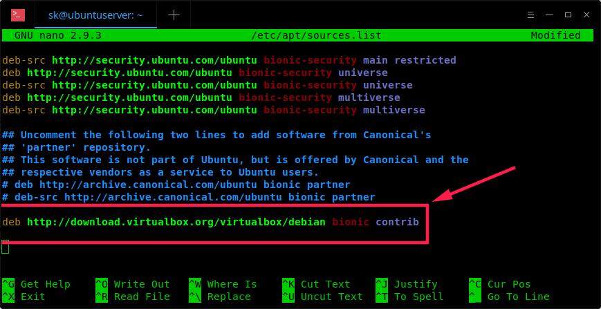 在 Ubuntu 18.04 LTS 无头服务器上安装 Oracle VirtualBox