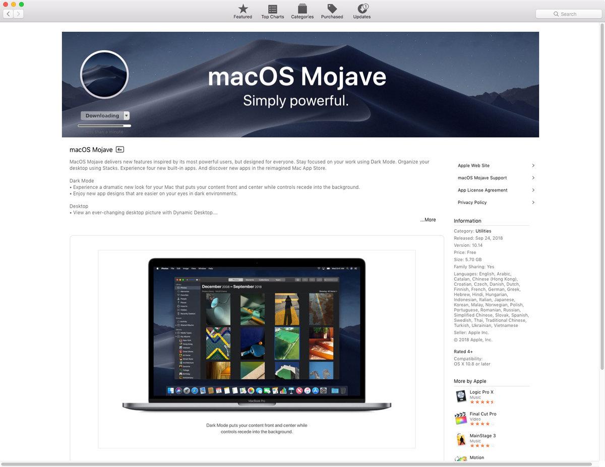 如何升级到macOS Mojave