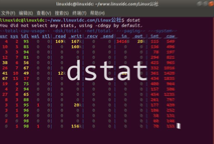 使用dstat检查Linux系统性能