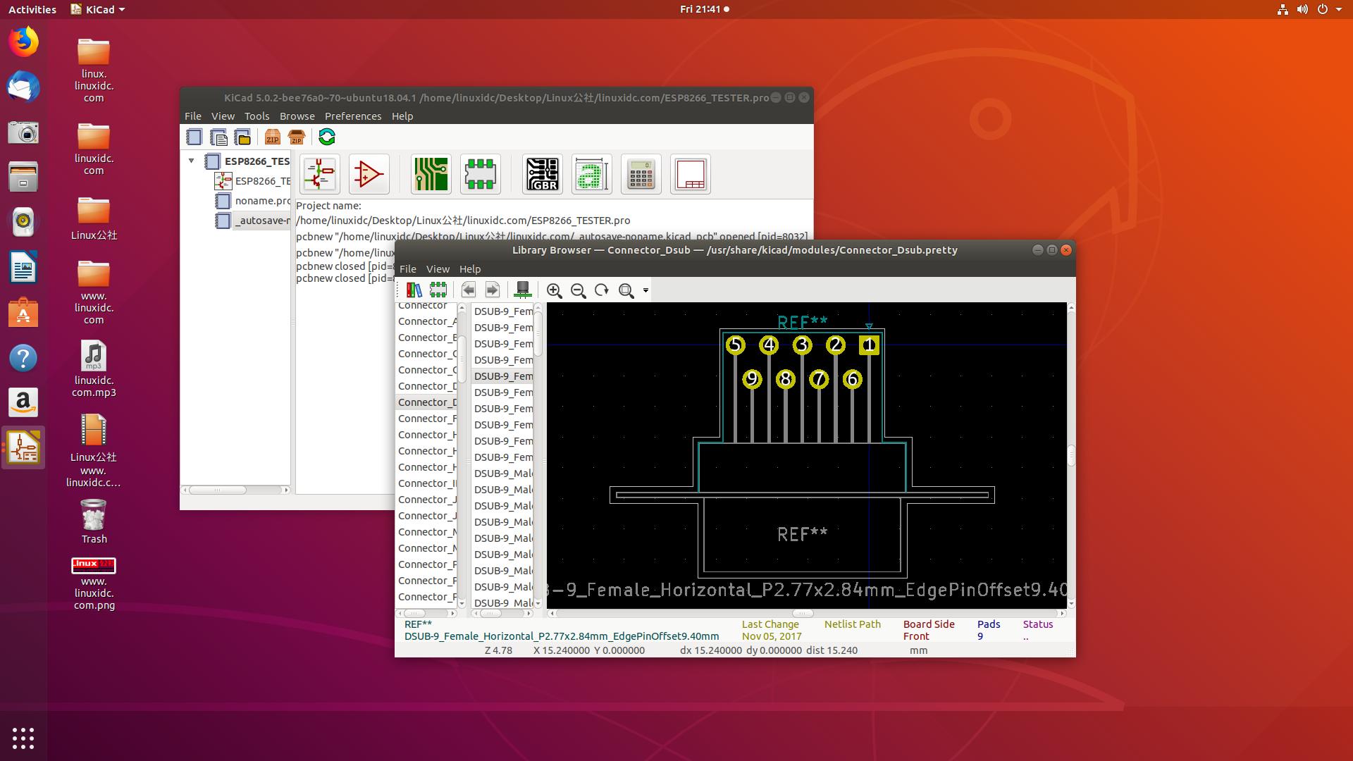 Ubuntu 18.04安装PCB设计软件KiCad 5.0.2稳定版本