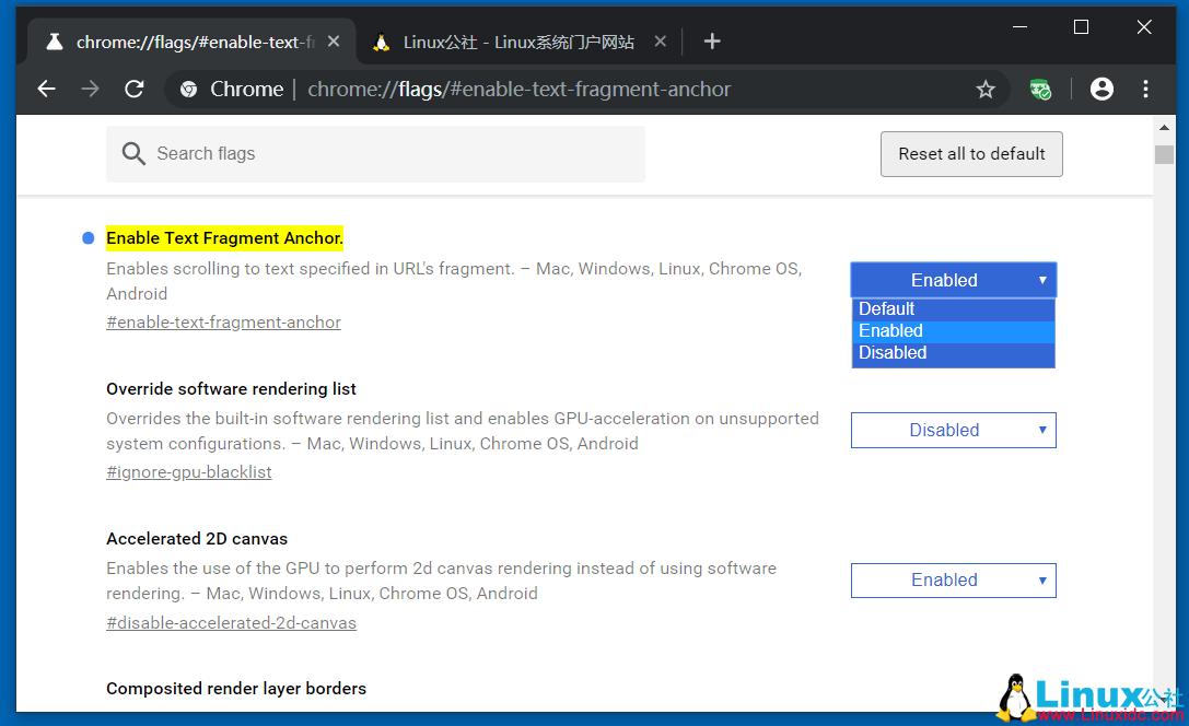 如何使用Google Chrome链接到页面上的文本