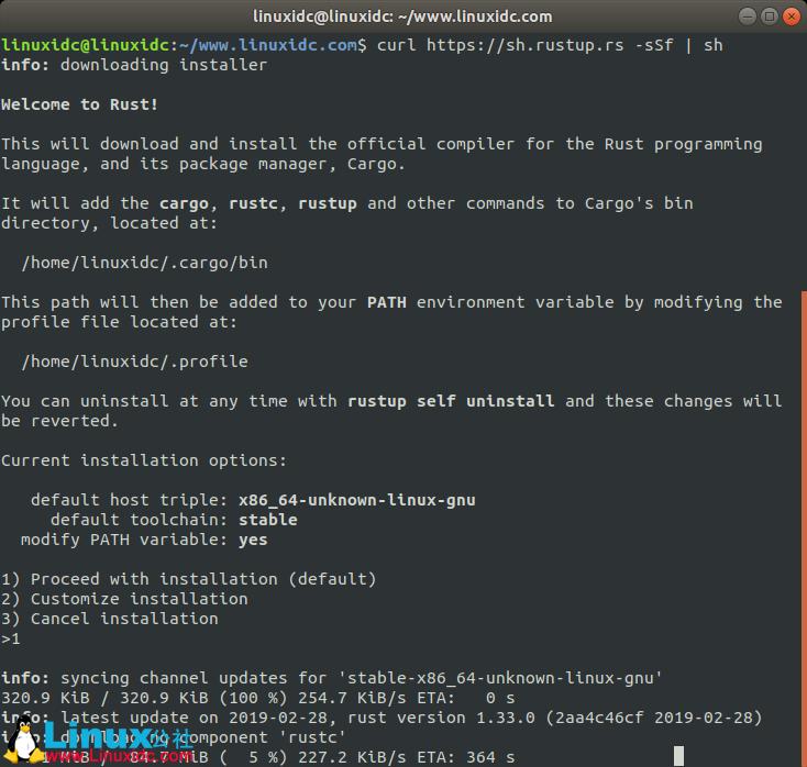如何在Linux中安装Rust编程语言