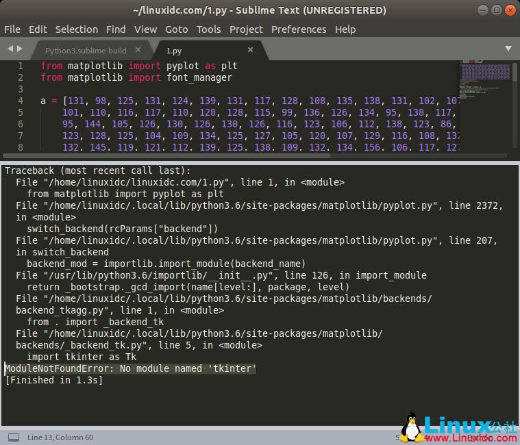 "Python3下提示No module named 'tkinter'""问题解决"
