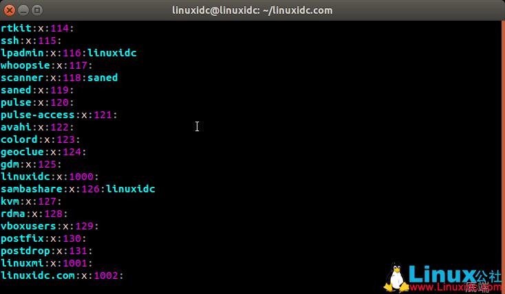Linux组配置文件(/etc/group)详解