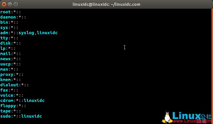 Linux /etc/gshadow文件内容详解