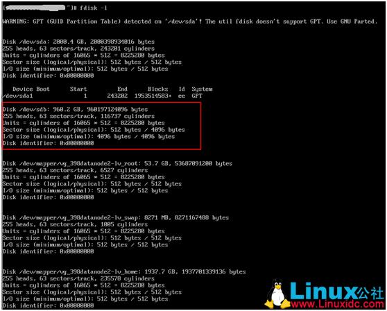 Linux 新添加的硬盘格式化并挂载到目录下