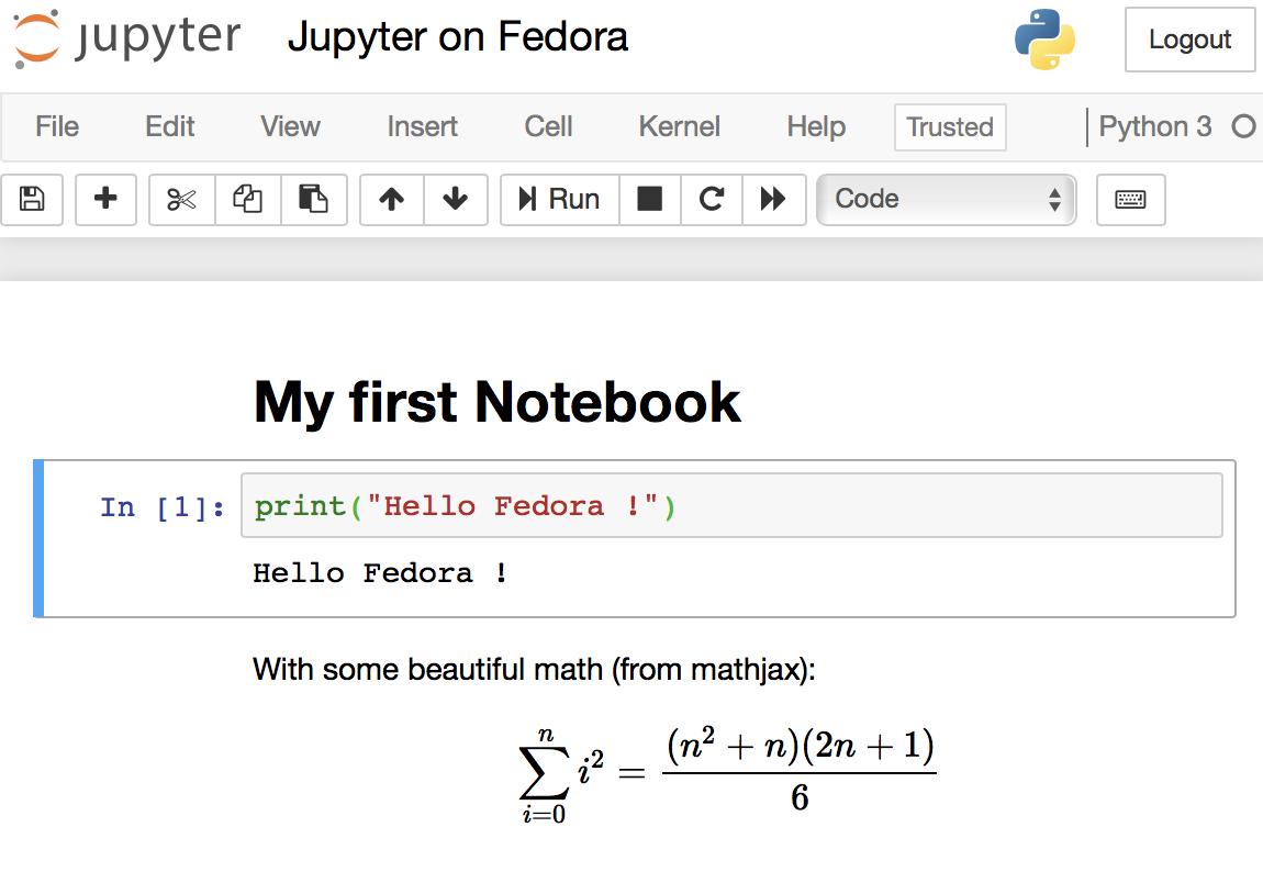 在 Fedora 上搭建 Jupyter 和数据科学环境