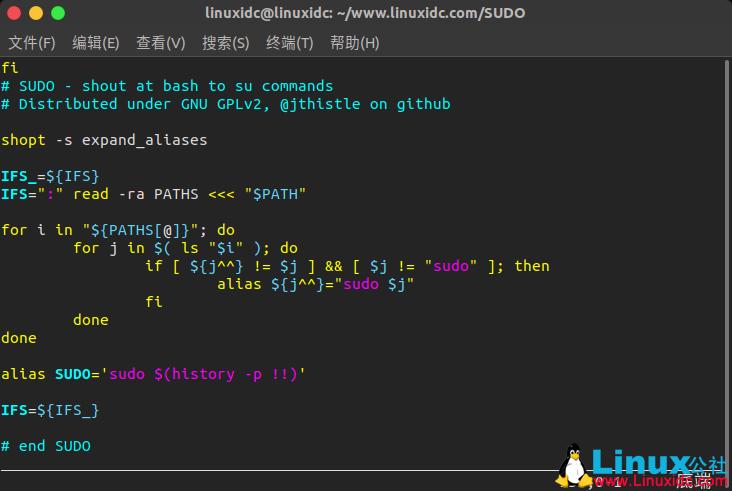 以大写字母输入Linux命令将其作为sudo用户运行