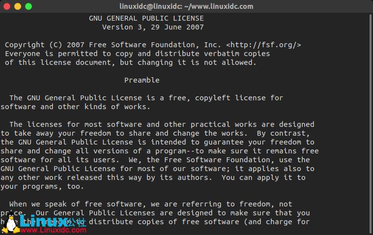 Linux less 命令用法详解