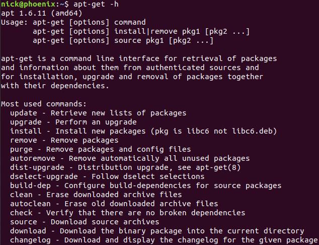 Ubuntu apt-get 命令详解