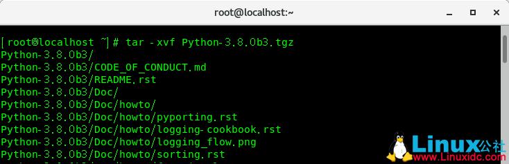 CentOS 7.6下编译安装Python 3.8.0