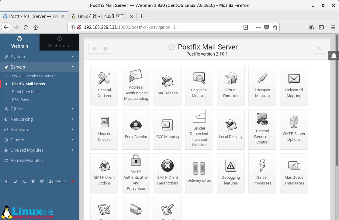 CentOS 7上使用Webmin进行Linux的远程管理