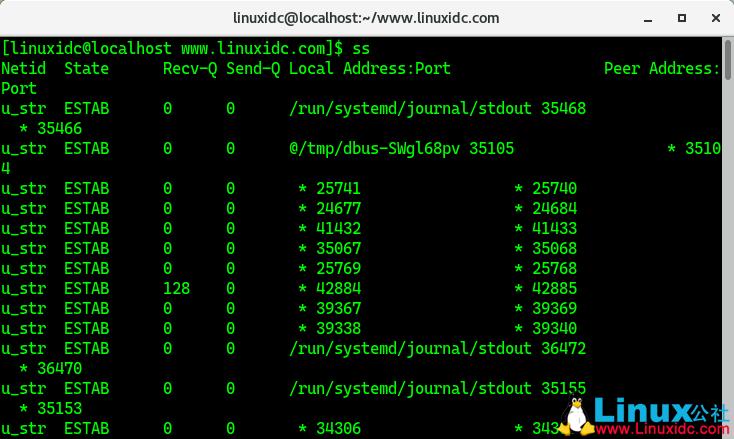 Linux下12个监视网络连接的ss命令示例
