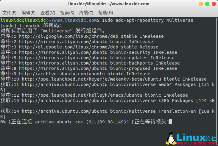 Ubuntu 18.04 LTS下安装Steam顶级在线游戏平台