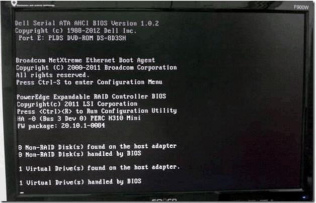 PERCH310配置阵列RAID详细步骤