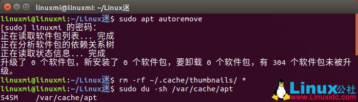 如何快速释放Ubuntu/Linux Mint磁盘空间