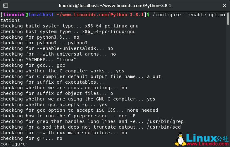 如何在CentOS 8上编译安装Python 3.8.1