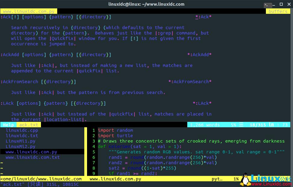 推荐适用于面向程序员和开发人员的Vim插件