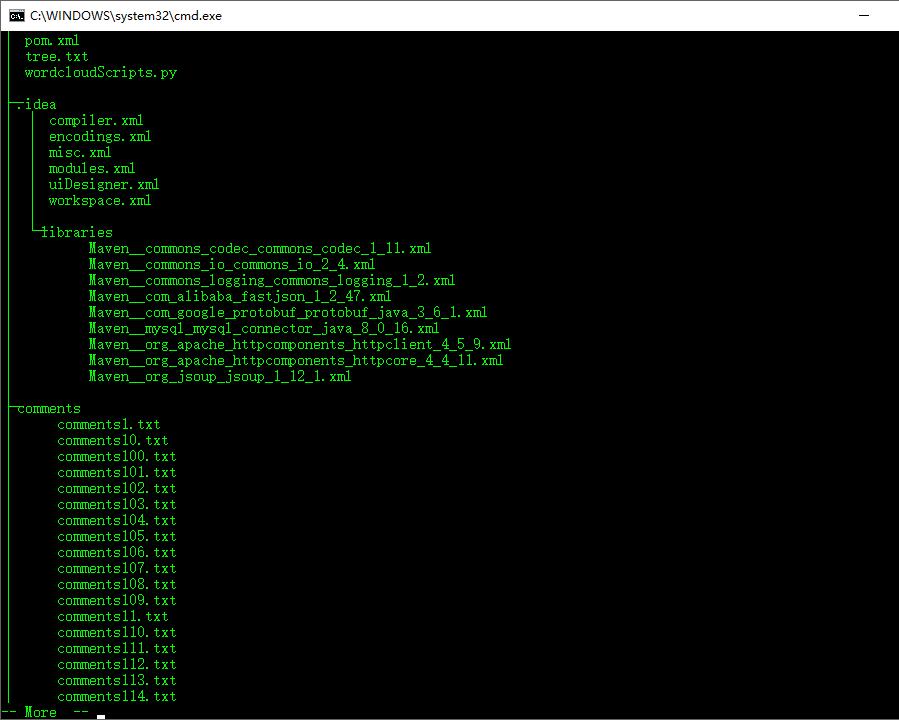 windows server 2019 利用命令生成目录树