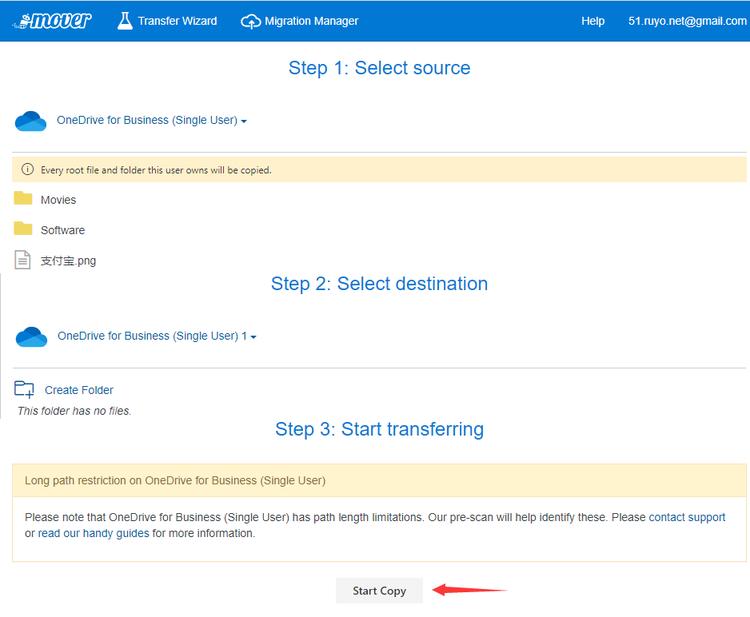 MOVER.IO文件迁移服务,支持OneDrive/GoogleDrive/Dropbox等
