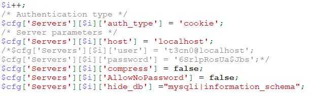 phpMyAdmin的robots.txt安全性漏洞