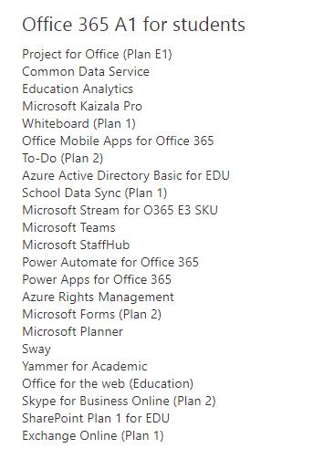 Office 365 A1教育版许可证 被人举报精准打击