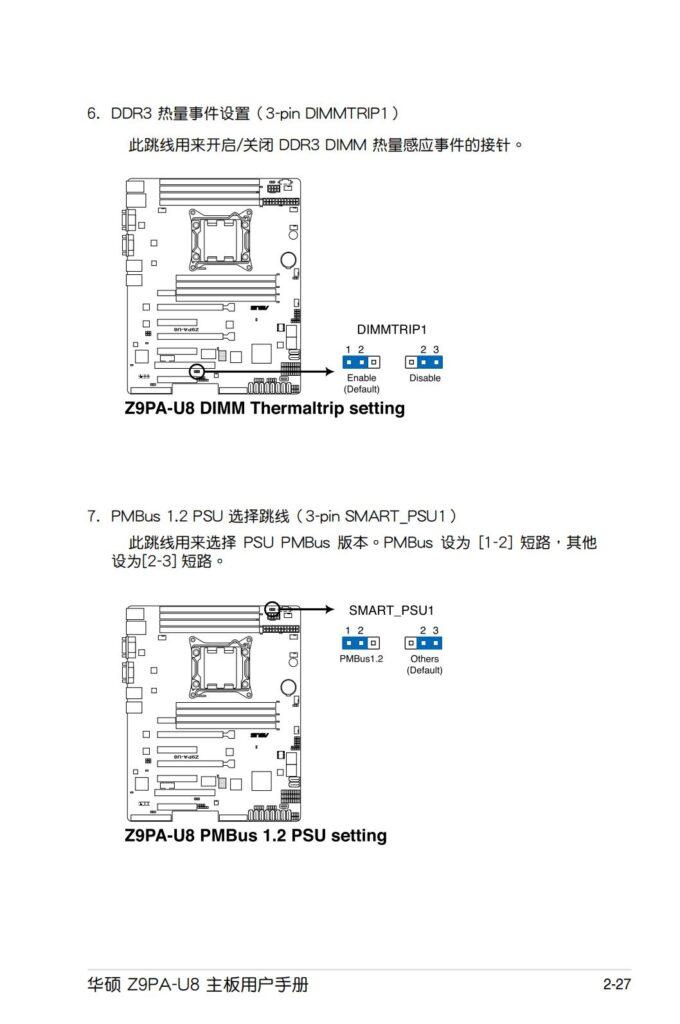华硕Z9PA-U8主板  跳线