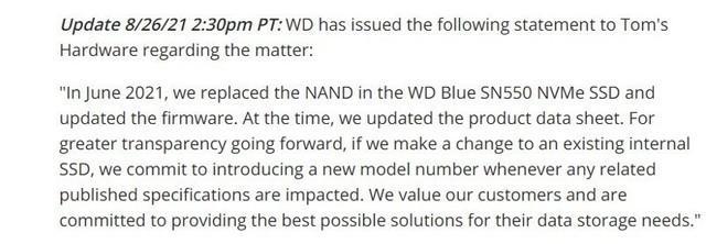 从西数SN550事件浅聊固态硬盘缓存那些事儿